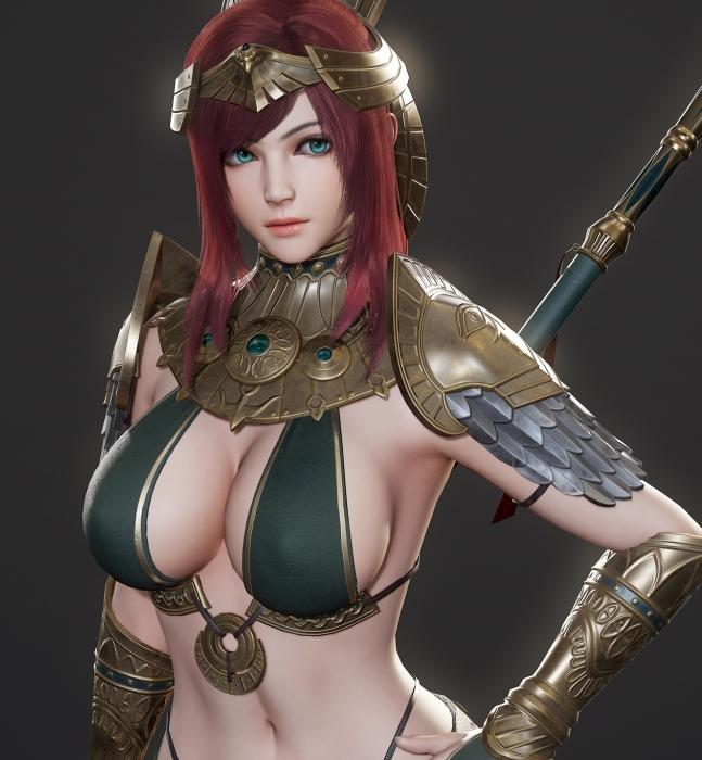 精致女战士模型免费分享 3dmax 游戏动画 3damx动画 模型 第1张