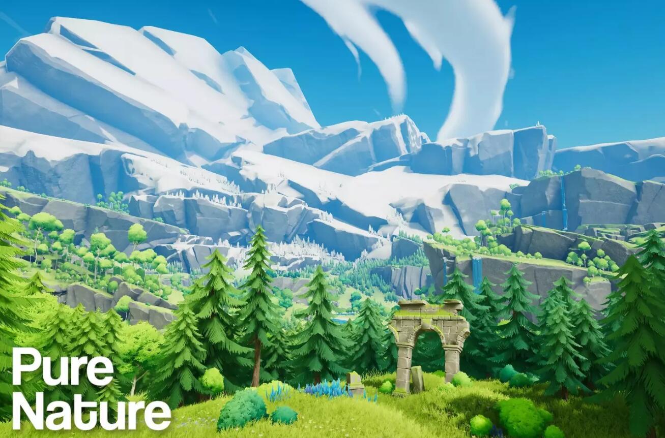Pure Nature 1.1卡通风格unity场景免费下载 第1张